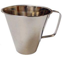 Køkkenmål i rustfri, 1,0 L og 0,5 Liter model