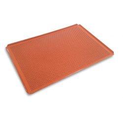Bageplade / bakeoff plade m/ siliconebelægning GASTROMÅL, perforeret