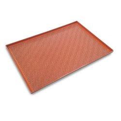 Bageplade m. siliconebelægning, 60x40cm, perforeret med 4 cm kant