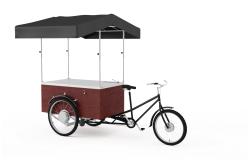 Cykel med salgsbod med vask og vand, Gastrobike (cykel foran)