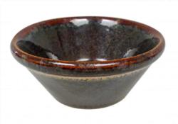 Dipskål konisk, 10x4,5cm, Grøn/Brun