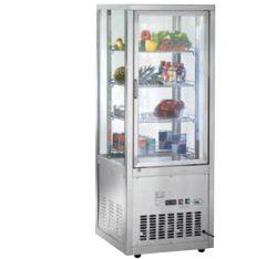 Displaykøleskab i rustfrit stål, CS18, 180 cm høj