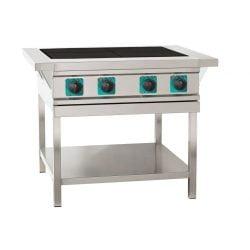 Elektrisk kogebord med massekogeplader, ASBER ASE-40 med 4 store blus
