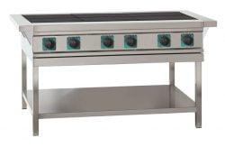 Elektrisk kogebord med massekogeplader, ASBER ASE-60 med 6 store blus