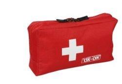 Førstehjælpskasse i rød, 14,5x27x9,5