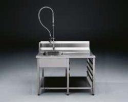 Forskyllebord inkl. armatur til tunnelopvaskemaskiner