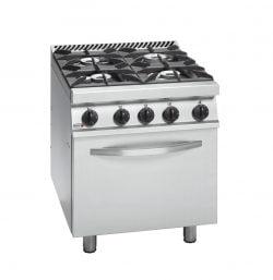 Gaskomfur med elektrisk ovn, 4 brændere, FAGOR CGE7-41