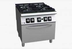 Gaskomfur med ovn, 4 brændere - FAGOR C-G941