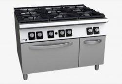 Gaskomfur med ovn, 6 brændere, FAGOR C-G961