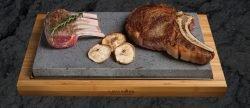 Lavarock tallerken LR02, Flot tallerken med lavasten, Steg bøffer eller hold maden kold