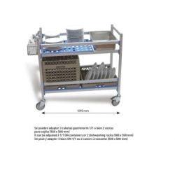 PUJADAS - Afryddervogn til 1/1 gn og 50x50 opvaskebakker
