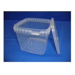 Plastbøtte firkantet 5624 - 1150 ml. - klar