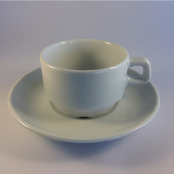 Porcelæn overkop/kaffekop - Amalie, 18 cl