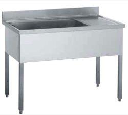 Stålbord med vaskekar - flere mål