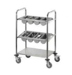 Vogn / trolley til bestik inkl. 2 bestikbakker