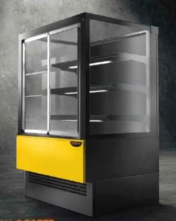 Kølemontre EVOK til selvbetjening - perfekt til kager, smørrebrød, sandwich mv - 2 dørs model, Technodom
