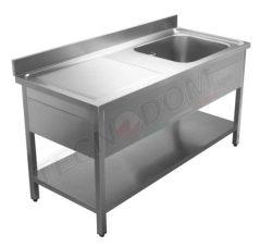 Rustfri stålbord med vask