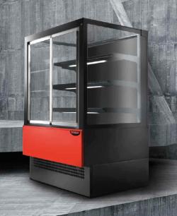 Varmemontre EVOK til selvbetjening - perfekt til kager, smørrebrød, sandwich mv - 2 dørs model, Technodom