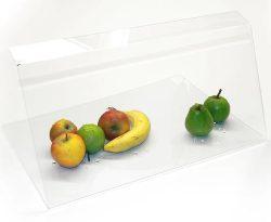 Nyseskærm / afskærmning til fremvisning af fødevarer, flere størrelser