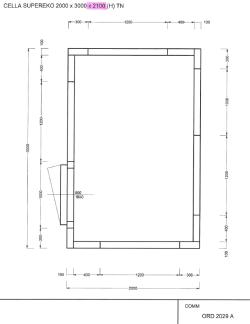 LAGER: Kølerum/frostrum 2000x3000x2100  (kun rum uden kompressor)