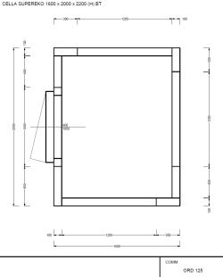 LAGER: Kølerum/frostrum 1600x2000x2200  (kun rum uden kompressor)