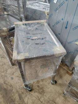 Stålbord med hjul / understel, Demomodel 500x715x805