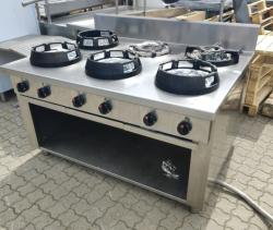 Kinakomfur / wok med 6 kraftige brændere, Casta, Brugt