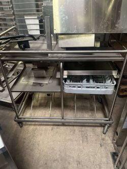 Servicevogn / afrydningsvogn til opvaskebakker, brugt